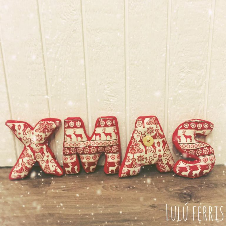 Letras decorativas 3D:  XMAS