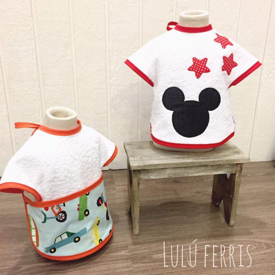 tutoriales de costura mickey mouse baberos