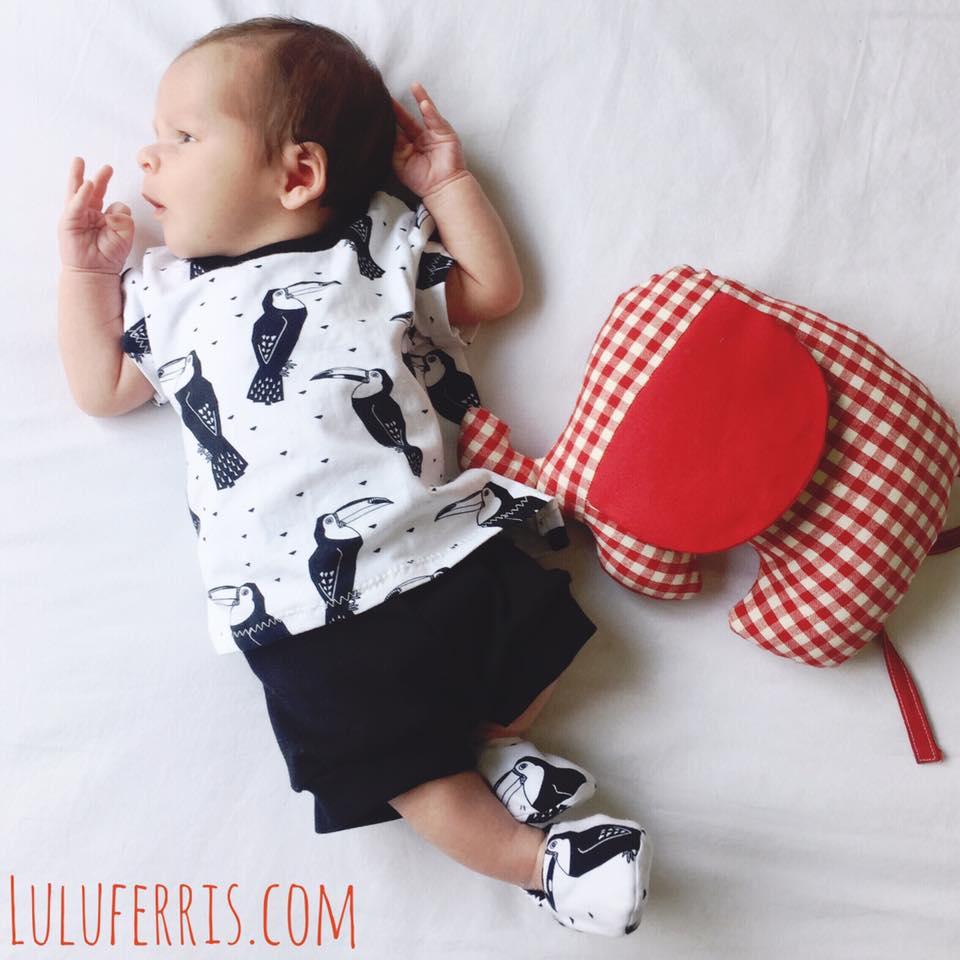 telas para ropa infantil blanco y negro