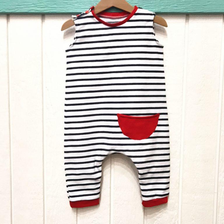 Peto para bebé con tirantes y snaps: corto y/o largo