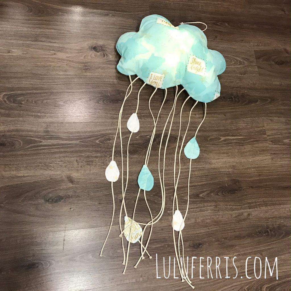 costura decorativa cortina nube