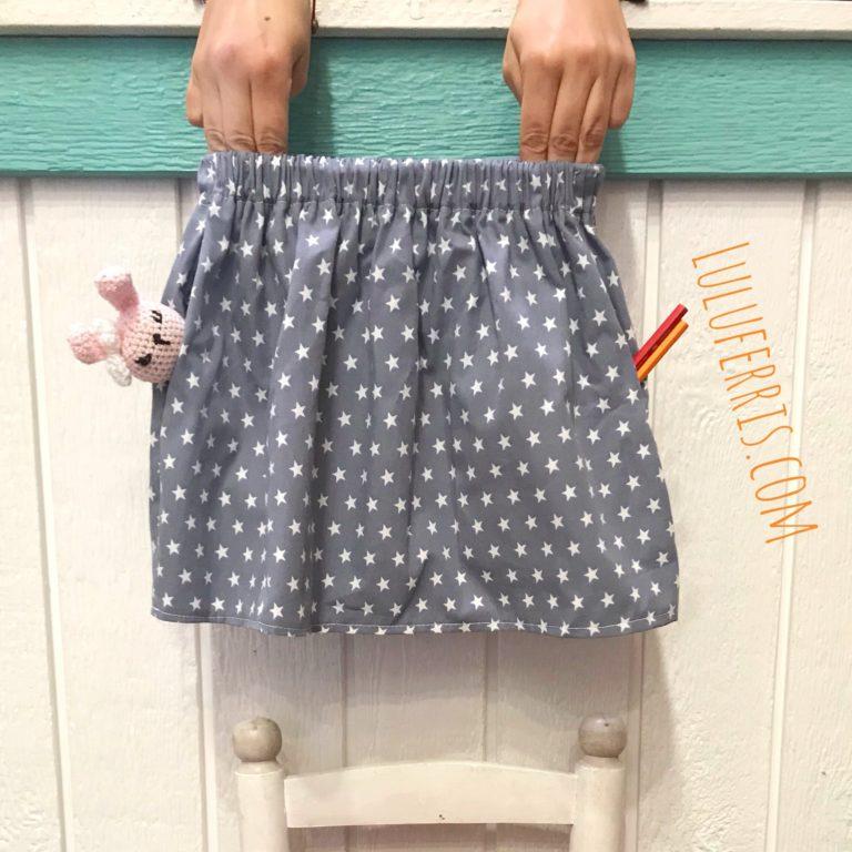 Falda con bolsillos para niña (patrón de 0 a 8 años)