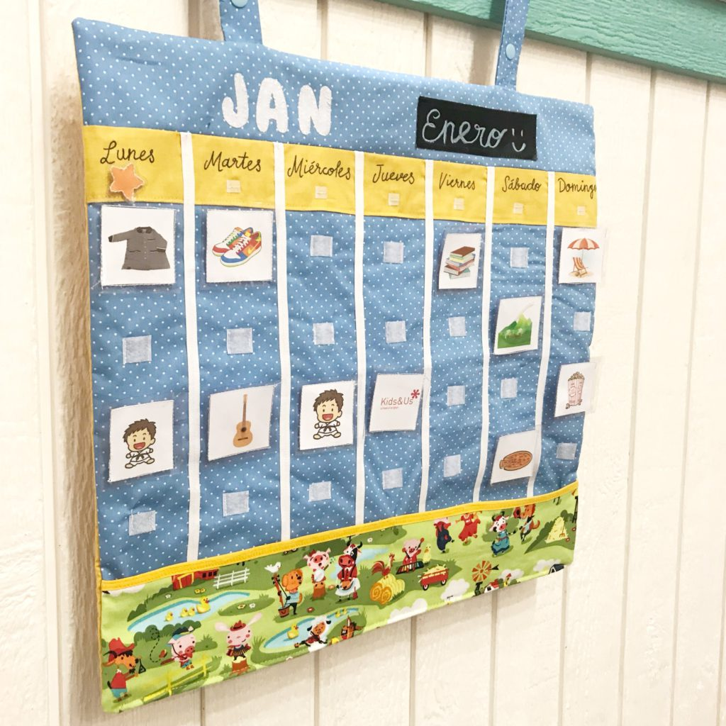 costura con niños organizador de tela
