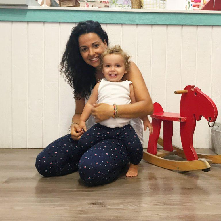 Leggins con tela de punto para mujer, niño/a y bebé
