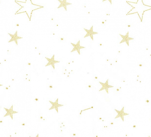 telas de estrellas blanco