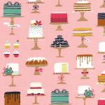 telas color rosa tartas