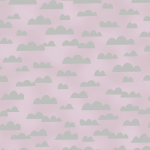 telas color rosa nubes