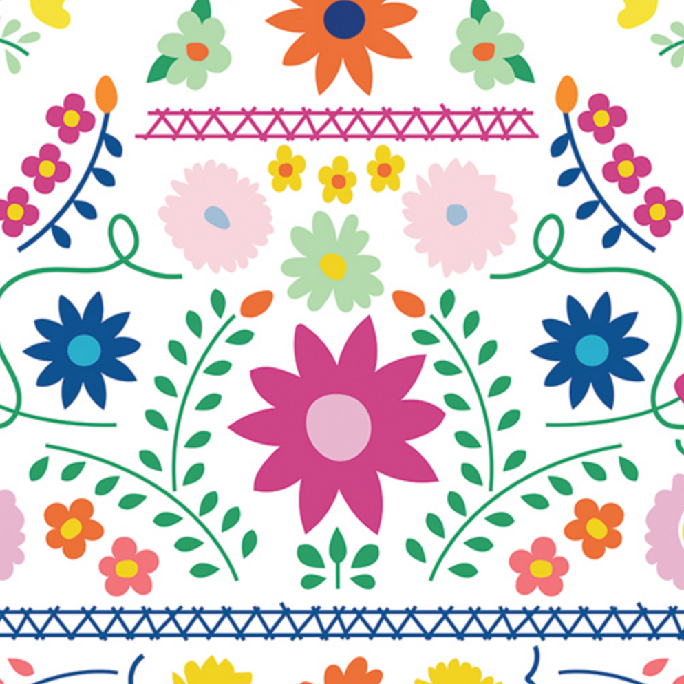 telas vuelta al cole flores