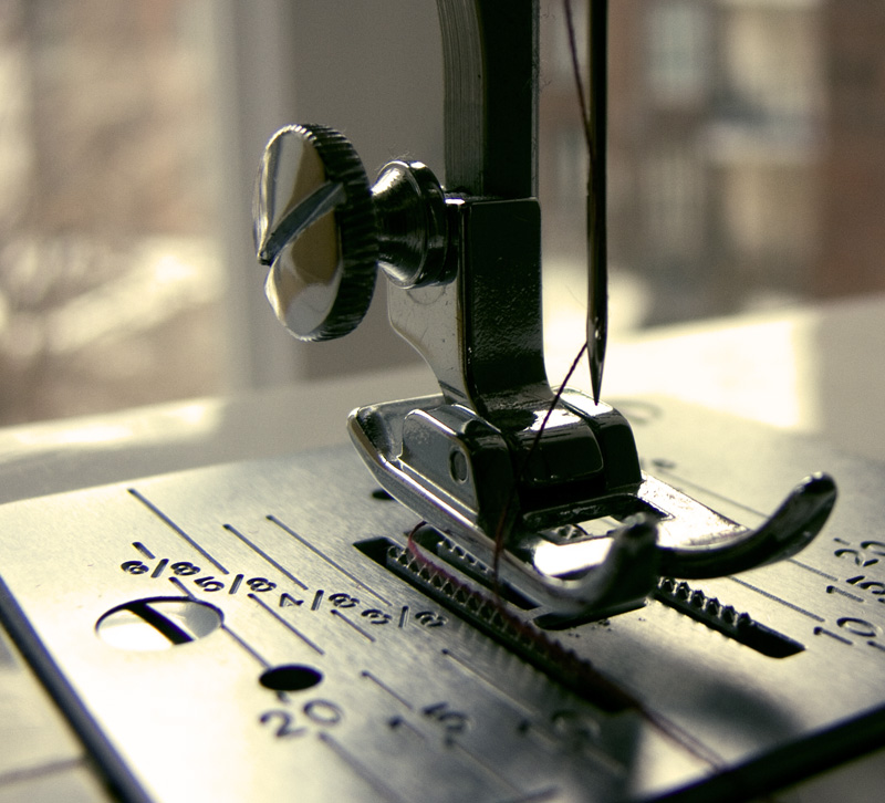 agujas para maquina de coser guia