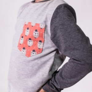 camiseta básica para niño bolsillo