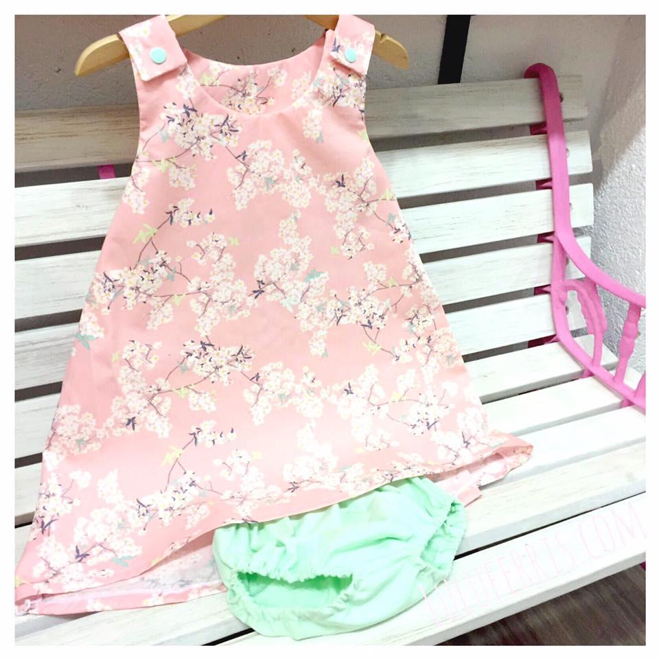 combinar telas color mint ropa nina