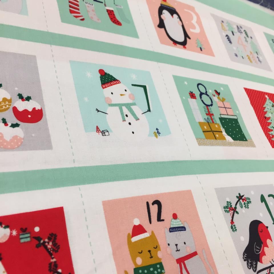cómo hacer un calendario de adviento con máquina de coser