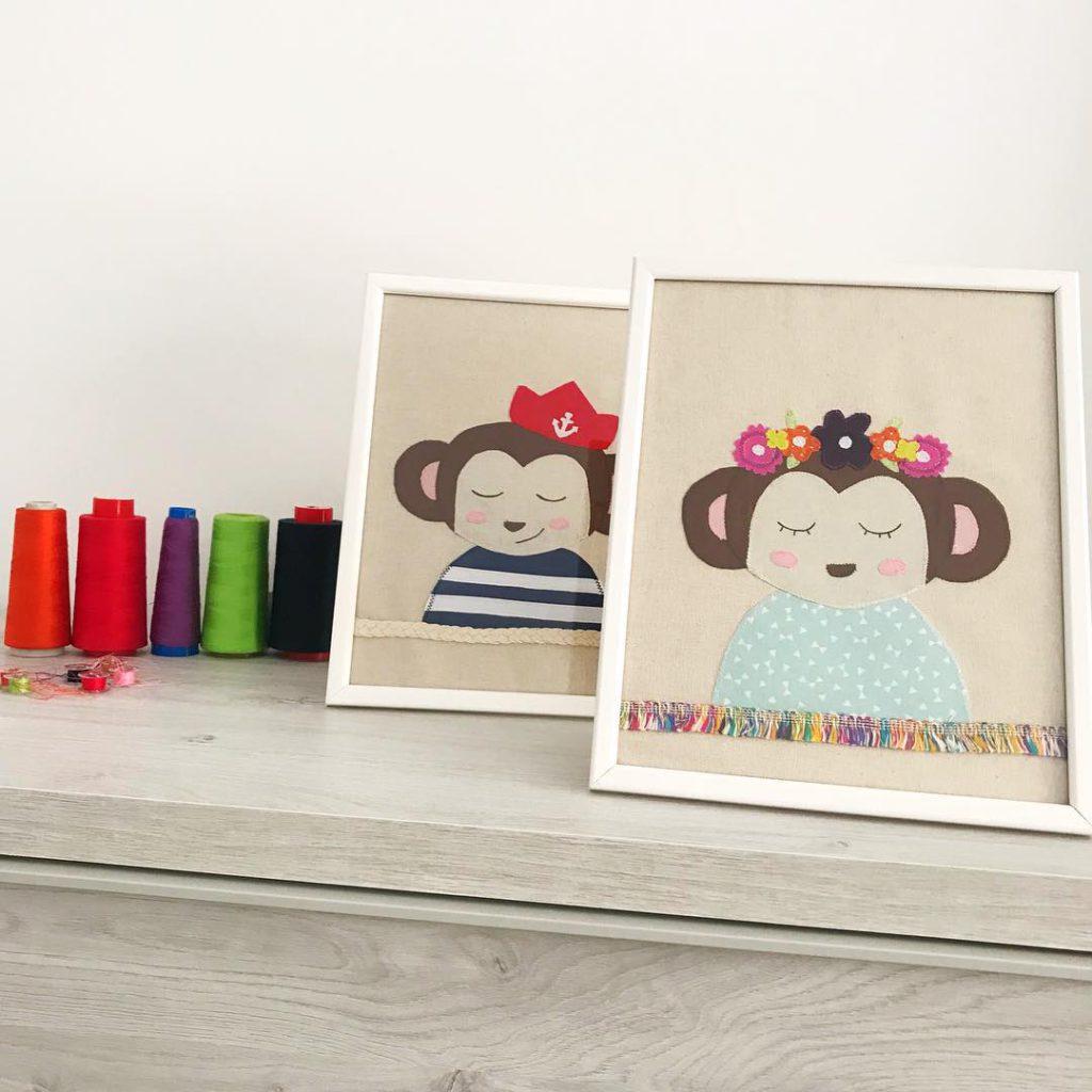 costura con niños dibujos