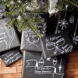 envolver regalos originales pizarra