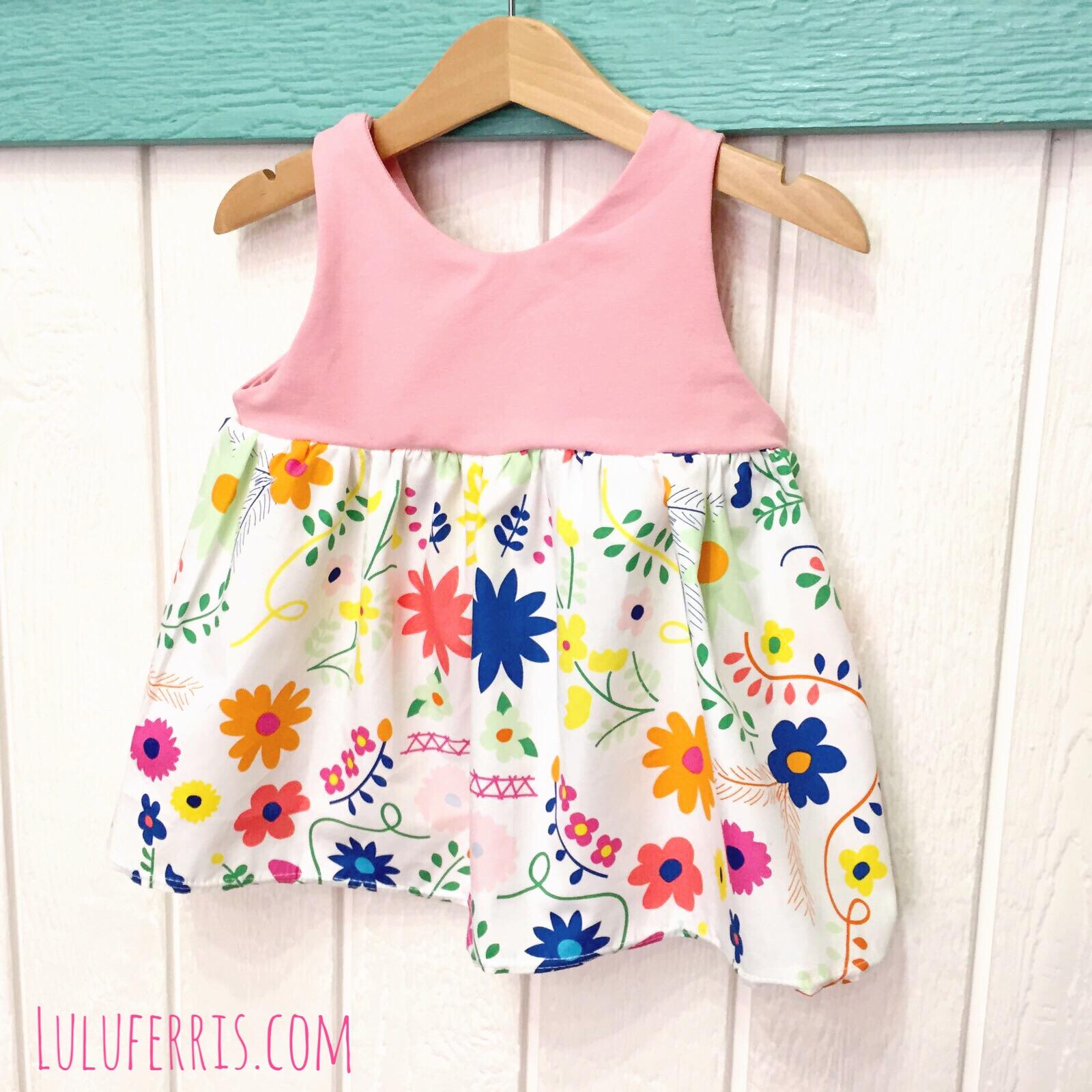 Vestido de tirantes para niña y bebé: patrón incluido [Videotutorial ...
