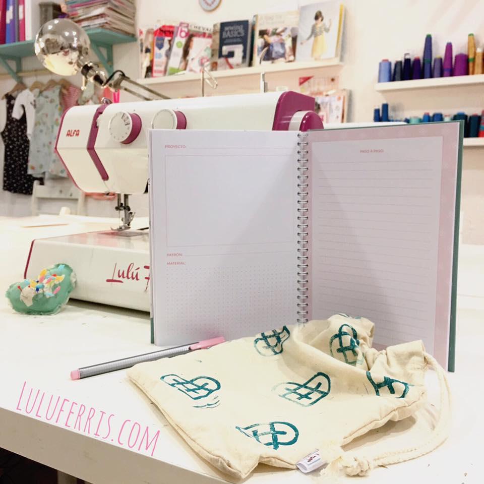 usar una libreta de costura