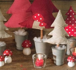 Rboles de navidad originales con tela y lana tienda - Arboles de navidad de tela ...