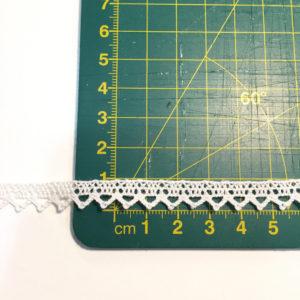 puntilla blanco roto 1 cm