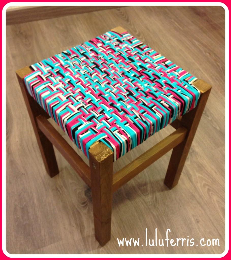 Patrones con trapillo 24 sillas y taburetes dulcesamigus - Como hacer alfombras con trapillo ...