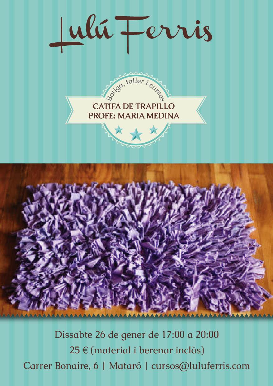 Taller alfombra de trapillo 26 01 tienda talleres y cursos de manualidades - Alfombra de trapillo cuadrada ...