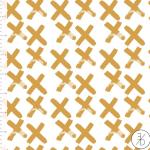 telas con diseño nórdico dorado