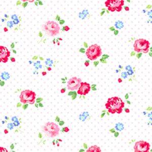comprar telas color blanco flores