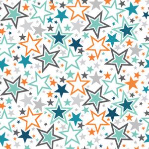 telas de estrellas coloridas
